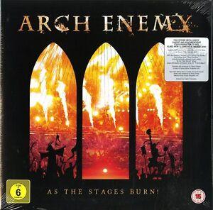 ARCH-ENEMY-AS-THE-STAGES-BURN-DOPPIO-VINILE-LP-180-GRAMMI-DVD-NUOVO-SIGILLATO