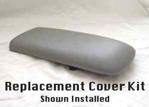 Fits 95-01 Ford Explorer Faux Leather Armrest Console Cover Light Gray