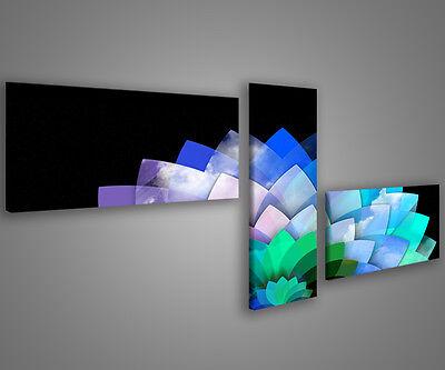 Quadri moderni astratti 180 x 70 stampe su tela canvas con telaio MIX-S/_132