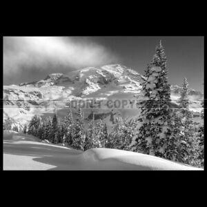 Photo F.006004 LANDSCAPE SNOWY MOUNTAINS