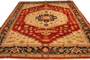 8x10 Red Oushak Living Room Rug Velvety Sheen Silky Soft