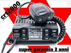 CRT-2000H-RICETRASMITTENTE-POTENZIATO-CB-AM-FM-400-CANALI-40-WATT-LCD-A-COLORI