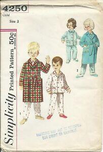 S 4250 sewing pattern kid s ROBE   PAJAMAS Top Pants w  DUCK ... 2f23ba4e1