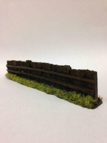 OO Gauge Javis PF9 Dark Brown Sleeper Fencing Model Railway /& Wargame Scenery