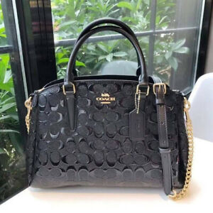 Authentic-Coach-Small-Margot-Carryall-in-Signature-Debossed-Patent-Leather-F5545