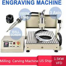 New Listing6040 Cnc Router 3 Axis Engraving Mill Engraver Metal Wood Cut Machine 15kw Vfd