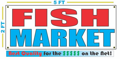 FISH MARKET Banner Sign NEW Larger Size Best Quality for the $$$