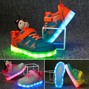 Kinder-Maedchen-Jungen-LED-Glow-Blinkschuhe-Licht-Schuhe-Kinderschuhe-Sneakers