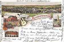 AK Gruss aus Markneukirchen Sachsen Lithographie gelaufen 1899