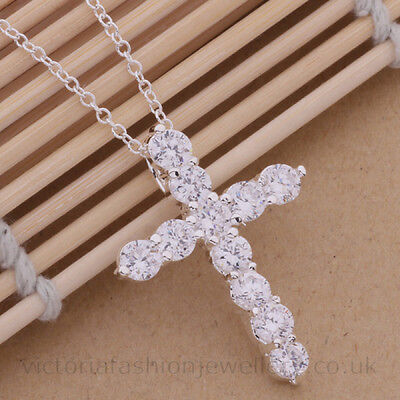 Gold Heart Cross Necklace in Silver Plate Crucifix Pendant Jesus Easter