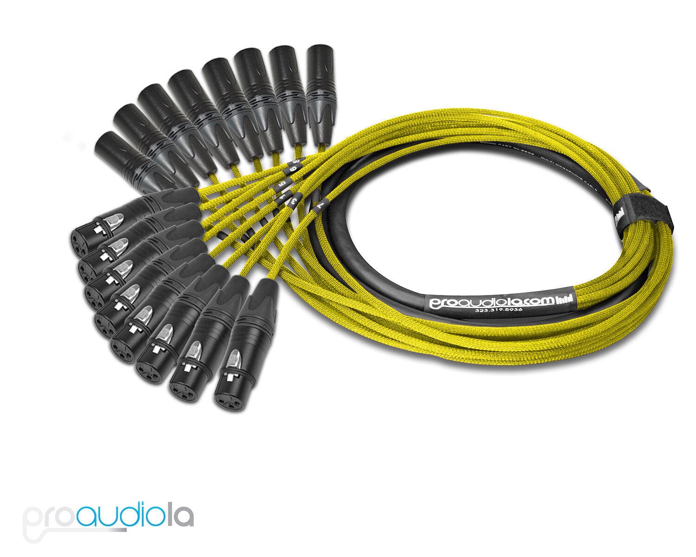 Premium Mogami 2932 8 Canales Canales Canales Serpiente Neutrik Dorado Tipo XLR-M Amarillo 4.6m  servicio considerado