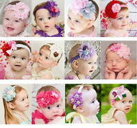 Infant Baby Girl Kids Toddler Lace Flower Headband Hair Band Bow Accessories