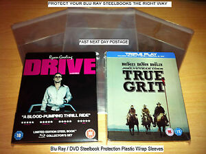 Blu-Ray-DVD-Steelbook-Protection-Plastic-Wraps-40-Sleeves-Covers-40-Microns