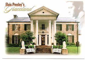 Postcard Tennessee Garden /& Trees Memphis Home of Elvis Presley Graceland
