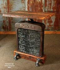 Steampunk Lamp Industrial Tractor Farm Oliver Table Stand Pub Console Barn Wood