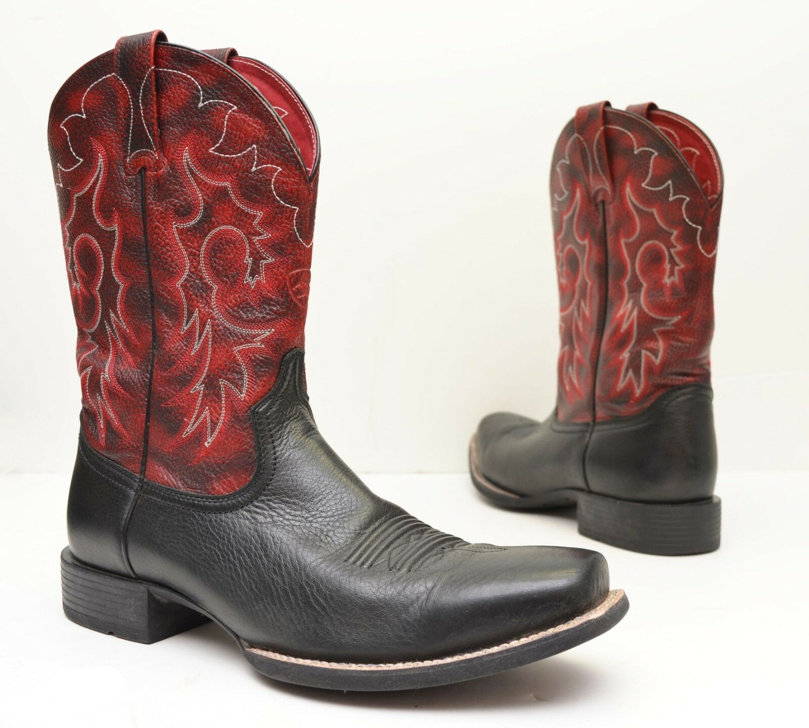 Ariat Heritage Square Toe Reinsmen Western Boots - Model 10009593 Sz 12