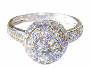 1,60 Ct Solitaire Diamant Ring In 14k Weiss Gold