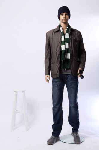 Male mannequins, with removable head, full body, bearded man manikin-W3-16-1