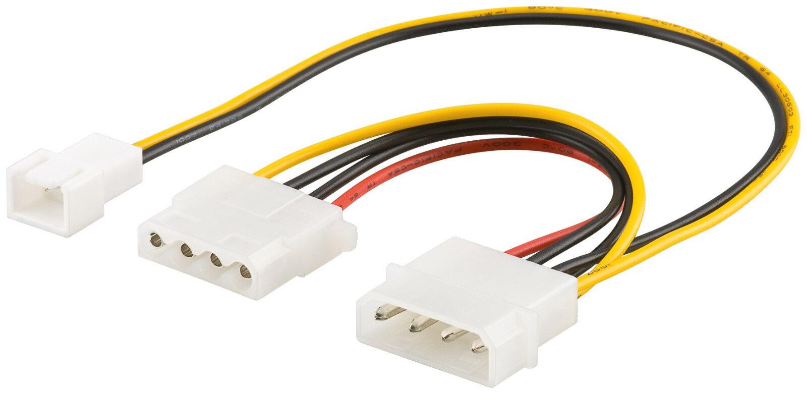 Lüfter Adapter Molex Stecker 4 Pin auf 3 PIN Stecker und 4 ...  Lüfter Adapter...