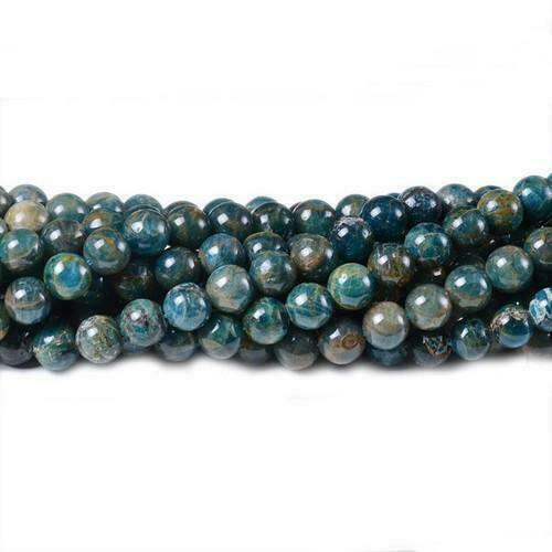 Pcs Gemstones DIY Jewellery Making Crafts Aquamarine Round Beads 6mm Blue 60