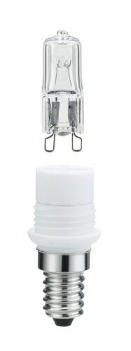Paulmann Sockelset 20W E14 zu G9 Klar Minihalogen Leuchtmittel Adapter Glühlampe