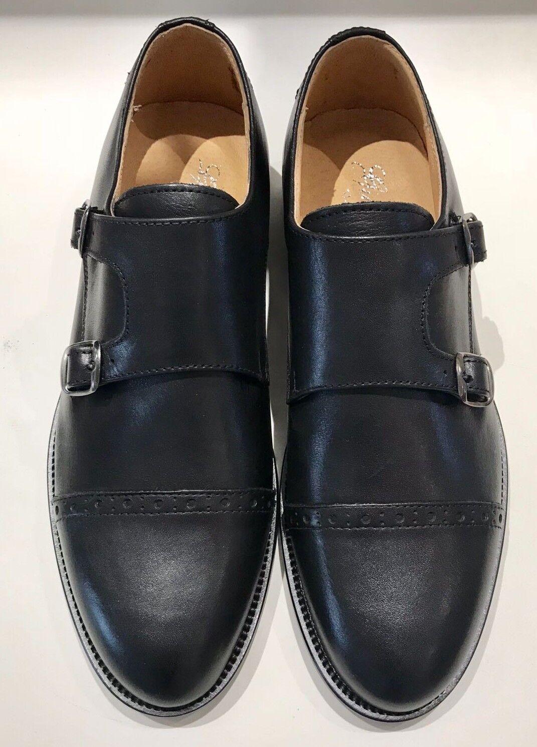 Chaussures hommes DOPPIA FIBBIA FRANCESINE PELLE noir CLASSICA (020MP 020)