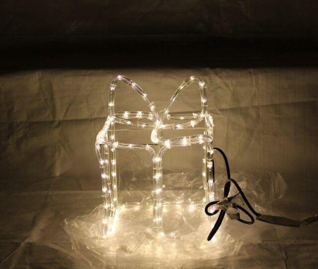 Weihnachtsbeleuchtung Figuren Led.Led Rentier 3d Figur Lichtschlauchfigur Dekofigur Weihnachtsbeleuchtung Wd18