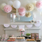 5Pcs White Paper Tissue Pom Poms Ball for Wedding Home Party Decoration Lantern