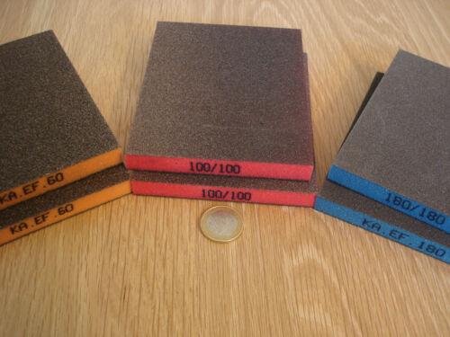 EF menuisier professionnel schleifmatten Set Tampons Korn 60 100 180 en couleur mark. 6 pièces Ka