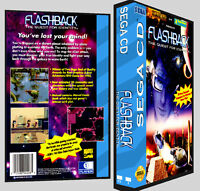 Flashback The Quest For Identity - Sega Cd Reproduction Art Dvd Case No Game