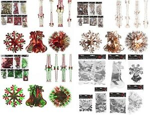 Christmas-Hanging-Ceiling-Wall-Decoration-Foil-Garland-Bell-Ball-SnowFlake-Decor