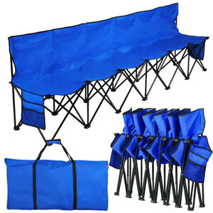 Swell Details About 6 Seat Portable Folding Sports Bench Seats Outdoors Camping Chair Stool Blue Dailytribune Chair Design For Home Dailytribuneorg