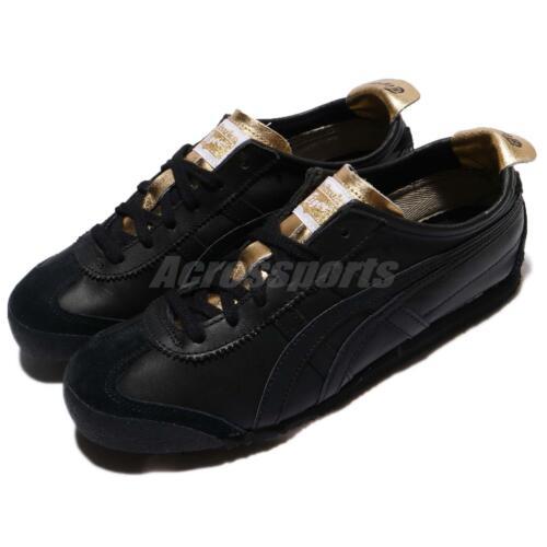 Asics Onitsuka Tiger Mexico 66 Triple Black Retro Men Women Sneakers D7C3L-9090