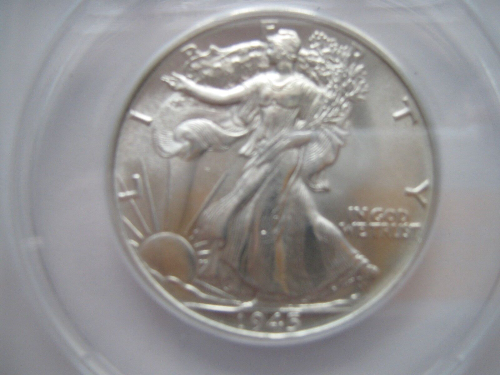 1945 , Walking Liberty Half Dollar , ANACS , MS 65