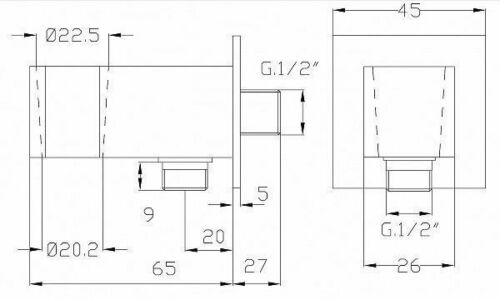 Brause Handbrause Messing quadratisch Schlauch 150cm Brausehalter Wandanschluss