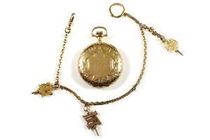 Elgin 14kt Gold Closed Face Pocket Watch