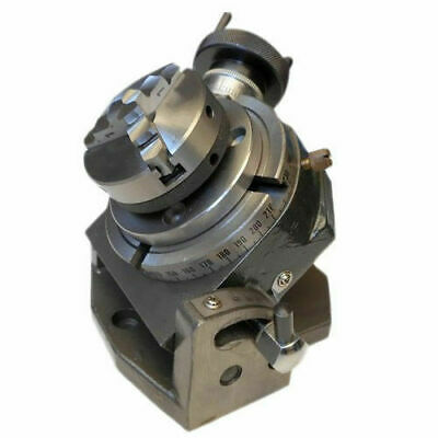 """65 MM SCROLL CHUCK BACKPLATE ROTARY TABLE 4/"""" TILTING"""