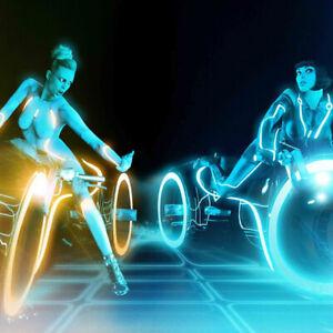 Tron-Legacy-Motorcycle-Girls-Art-Poster-HD-Print-Home-Wall-Decor-Multi-Sizes