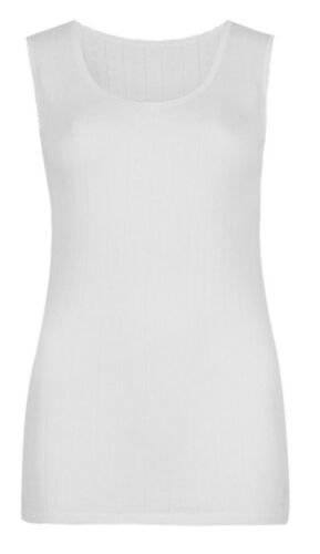 M/&S Marks and Spencer Pointelle termica Donna Cami Gilet Caldo UK 6-22