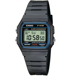 Casio-F-91W-1-Black-Resin-Classic-Digital-Unisex-Watch-with-Alarm-and-Stopwatch