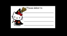 Hello Kitty Witch Halloween Please Deliver To Pdt Shipping Labels Matte
