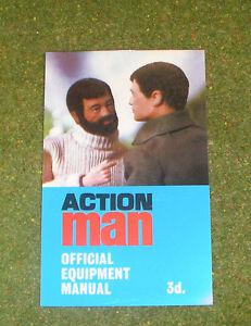 Vintage Action Man 40th Officiel équipement manuel (Bleu Clair Housse)  </span>