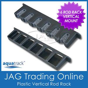 VERTICAL 6-ROD STORAGE ROD RACK -Plastic Boat Fishing Rod Holders / Foam Inserts