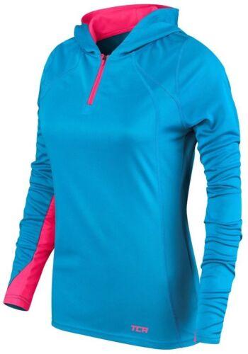TCA Energy Womens Hoody Lightweight Gym Running Training Long Sleeve Hoodie Blue