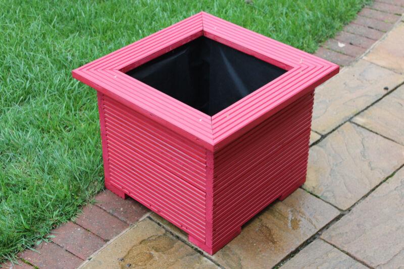 47cm Macetas Cuadradas Hecho En Terrazas Perfecto artesa de flores maceta Rojo
