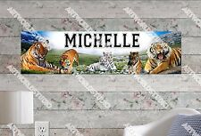 Personalized/Customized Tiger Name Poster Wall Art Decoration Banner