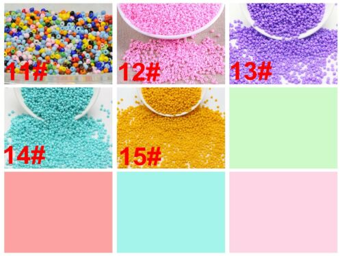 10//0 Storage Box Jewelry Making 5000 Opaque Rocailles Glass Seed Beads 2mm