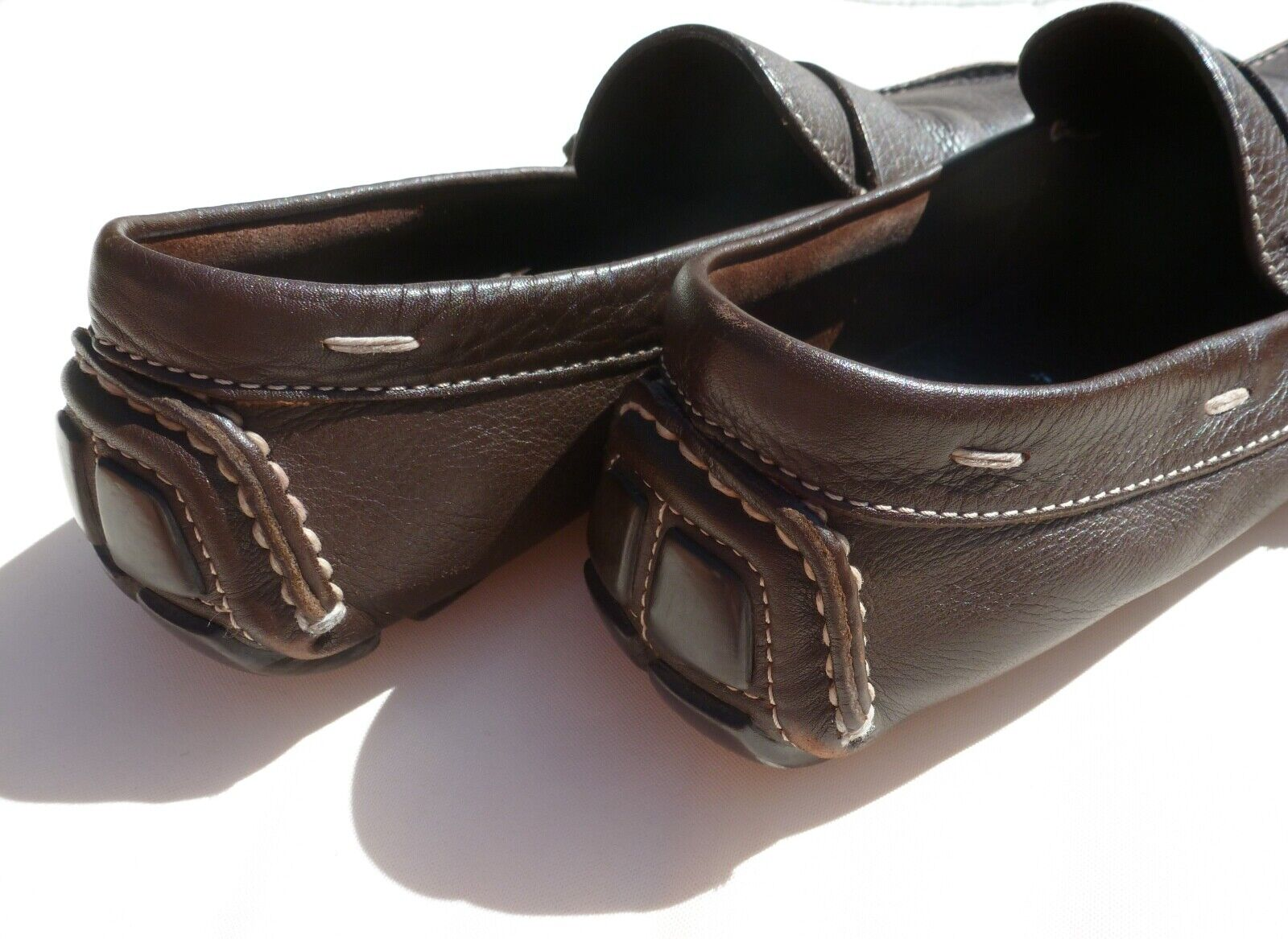 PRADA Men's shoes Brown Leather Loafers UK 9.5 EU 43