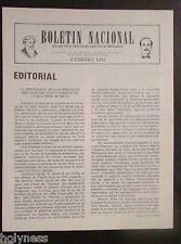 BOLETIN NACIONAL / PARTIDO NACIONALISTA DE PUERTO RICO / NEWSLETTER / FEB 1982
