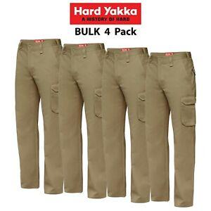 Mens-Hard-Yakka-Cargo-Pants-4-PK-Gen-Y-Cotton-Drill-Work-Tough-Heavy-Duty-Y02500
